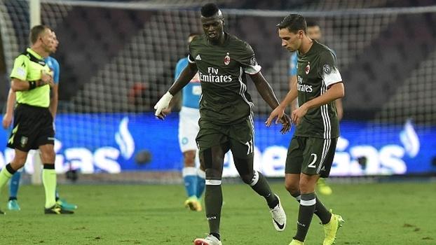 Niang comandou a reação do Milan no segundo tempo, mas foi expulso