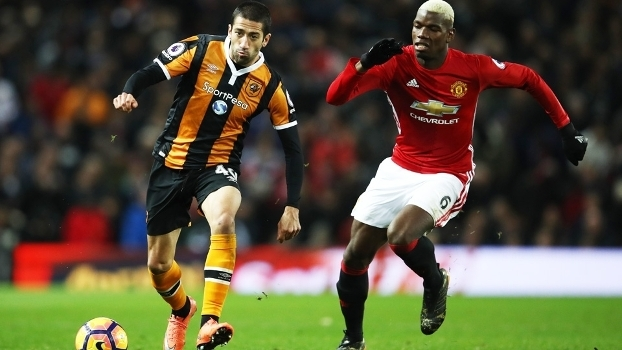 Evandro Hull City Pogba Manchester United Premier League 01/02/2017