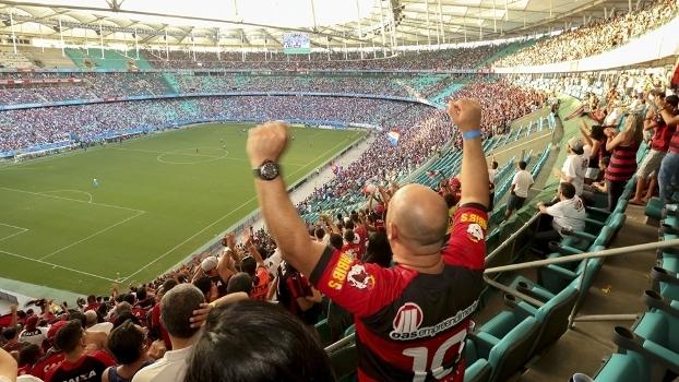 Ba-Vi do último final de semana teve torcida mista na Arena Fonte Nova cba5aa6b47277