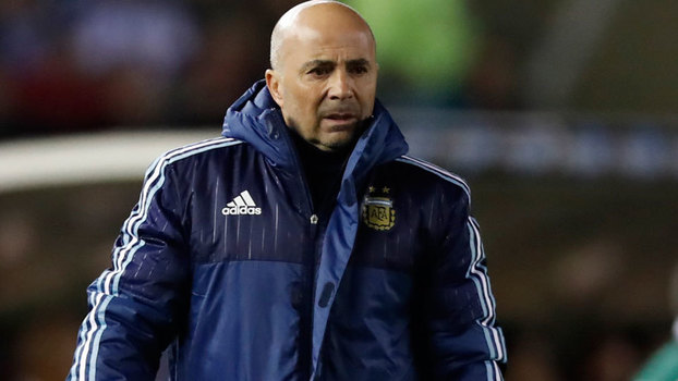 Jorge Sampaoli durante as Eliminatórias para a Copa do Mundo