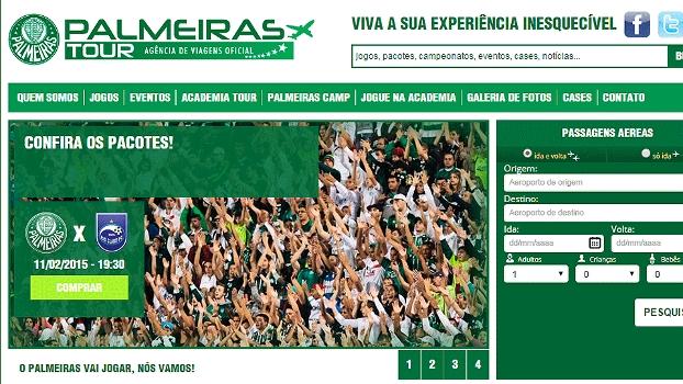 Site oficial do Palmeiras Tour  nova ação visa à obtenção de novos sócios fe06fbfd0d186