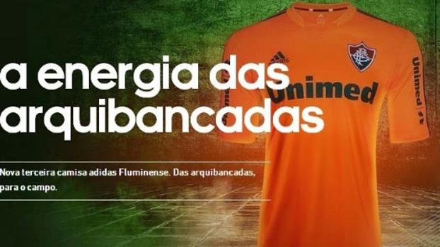 Adidas mostrou em seu site oficial imagem da nova camisa laranja do  Fluminense bae1e11250c41