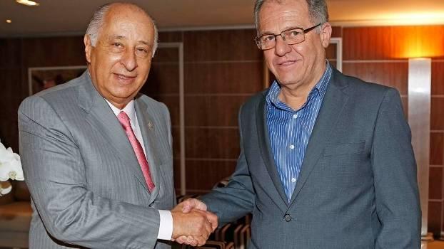 Marco Polo Del Nero Presidente CBF Recebe Visita Helio Cury Presidente Federação Paranaense 05/05/2015