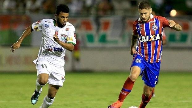 Bahia ficou no empate por 1 a 1 com o Fluminense de Feira
