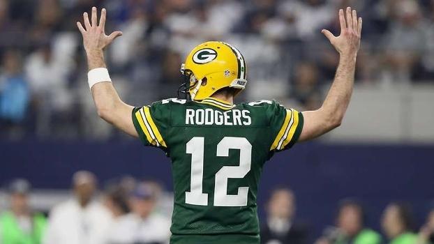 Rodgers comemora no jogo contra os Cowboys; aposta nos Packers vira 'fortuna'