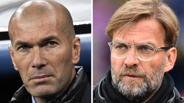 Zidane e Klopp, rivais na final da Champions
