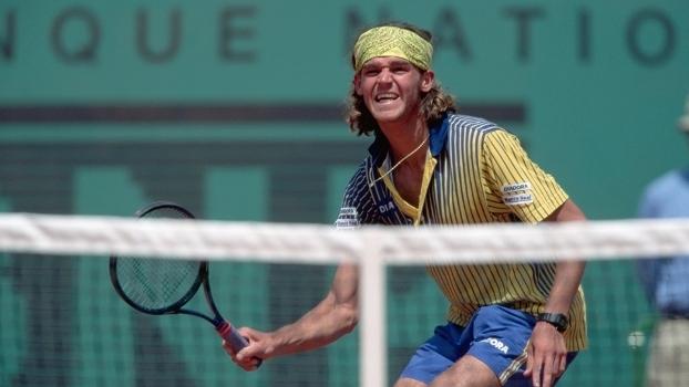 Guga durante a disputa de Roland Garros, em 1997