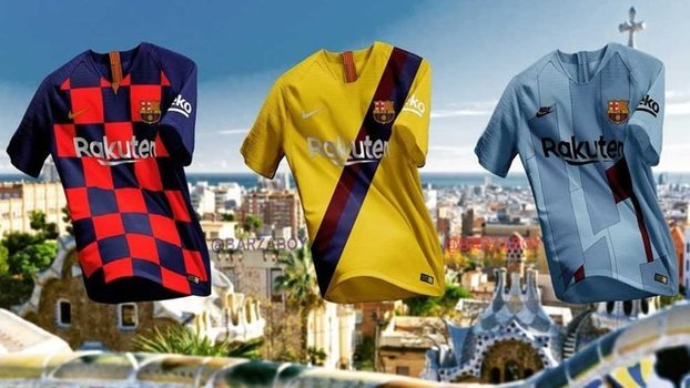Jornal revela como serão as três camisas do Barcelona na próxima ... dbcdac34139b2