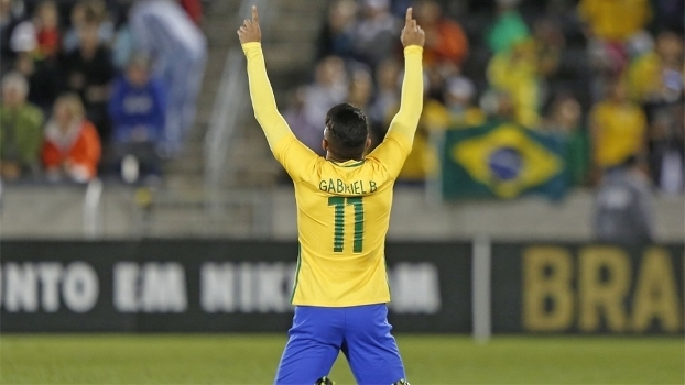 Gabriel, o 'Gabigol', estreou e marcou seu primeiro gol pela seleção brasileira