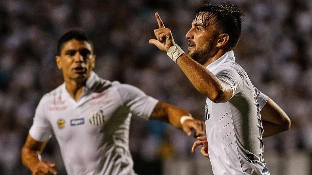 Rafael Longuine Santos Agua Santa Comemora Gol Campeonato Paulista 12/03/2016