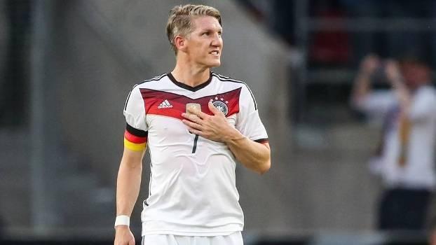 Schweinsteiger durante jogo com a seleção alemã