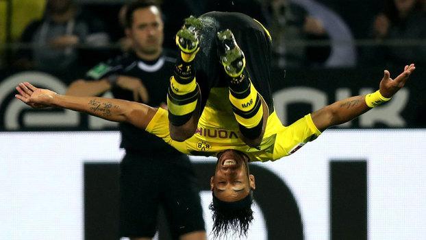 Aubameyang chegou a oito gols na Bundesliga