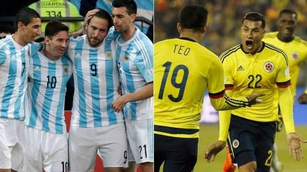 Resultado de imagem para Argentina x Colômbia