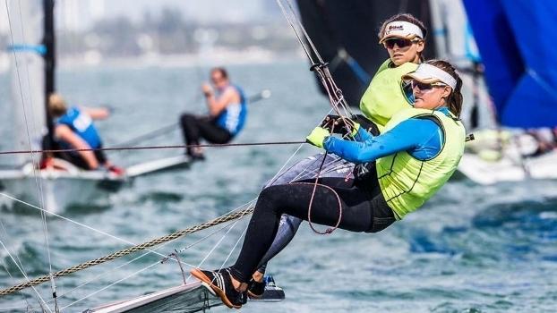 Martine Grael e Kahena Kunze conquistaram o título em Miami