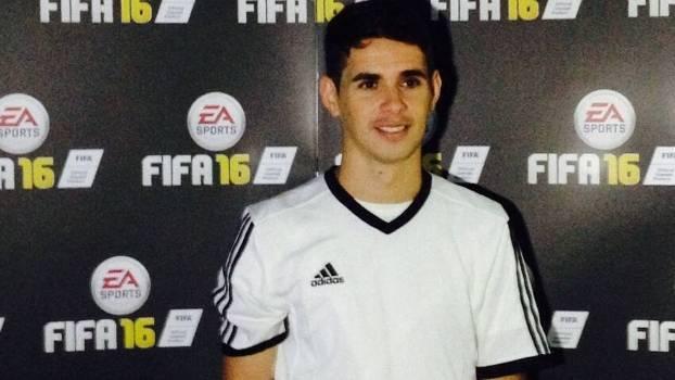 Oscar será o representante brasileiro na capa do game Fifa 16