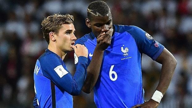 Griezmann e Pogba são destaques franceses nas cinco grandes ligas europeias