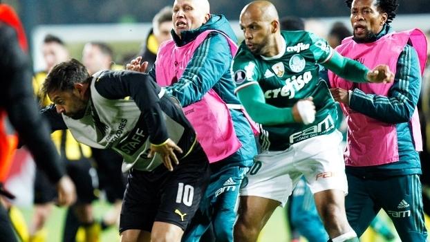 Felipe Melo Palmeiras Penarol Libertadores 26/04/2017