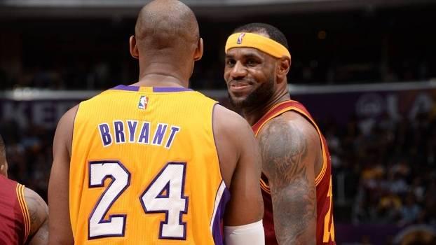 f02eb37d5 LeBron James e Kobe Bryant se enfrentam pela última vez