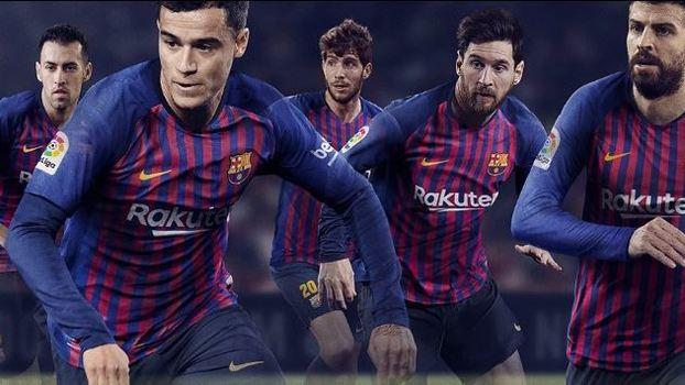 f48a258191b53 Barcelona apresenta nova camisa 1 com faixas em homenagem a cada ...