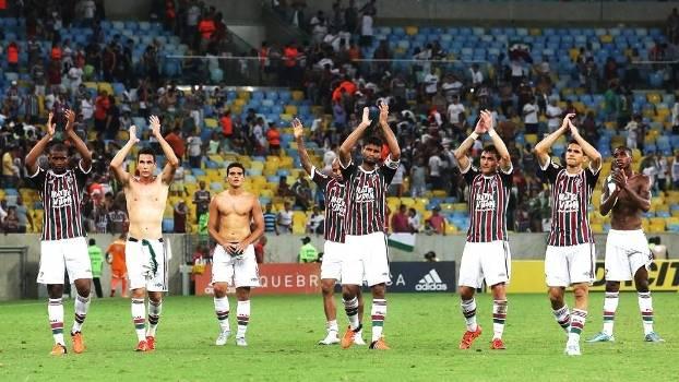 Fluminense Comemora Vitoria Palmeiras Copa do Brasil 21/10/2015