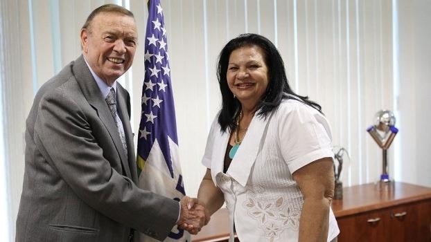 José Maria Marin e Rosilene Gomes, ex-presidentes respectivamente de CBF e federação paraibana