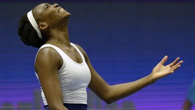 Venus Williams durante jogo no WTA de São Petesburgo
