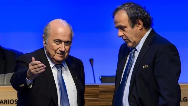 Blatter e Platini foram suspenso pela Fifa