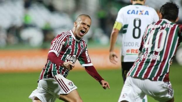Marcos Junio marcou o gol do Fluminense no Couto Pereira