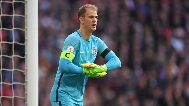 Joe Hart jogando pela Inglaterra nas Eliminatórias da Copa 2018