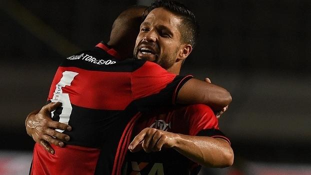 Diego Comemora Gol Flamengo Figueirense Copa Sul-Americana Futebol 31/08/2016
