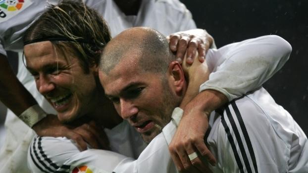 Zidane e Beckham atuaram juntos no Real Madrid
