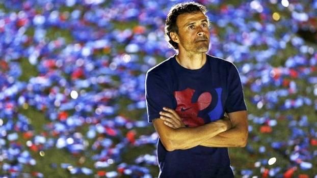 Luis Enrique faturou a tríplice coroa com o Barcelona em 2015
