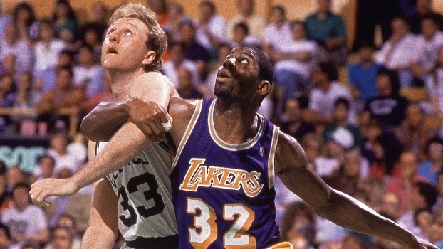 Larry Bird e Magic Johnson - NBA Final 1987