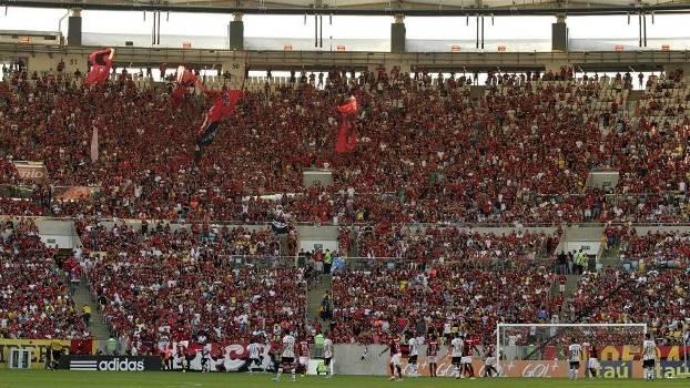 Maracanã na partida entre Flamengo e Corinthians, pelo Campeonato Brasileiro