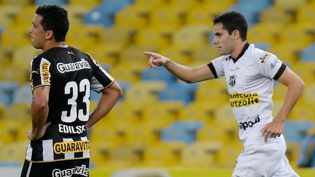 Eduardo marcou o primeiro gol do Ceará no duelo contra o Botafogo dea4fdce5b074