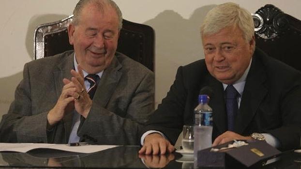 Julio Grondona e Ricardo Teixeira em evento de 2011