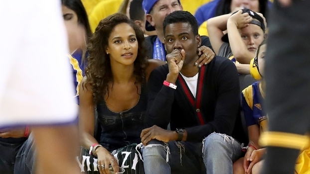 O ator Chris Rock no jogo 5 das Finais da NBA entre Warriors e Cavaliers. Courtside, claro!