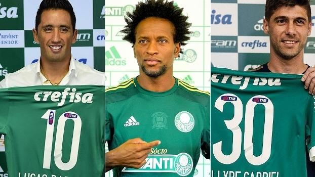Barrios, Zé Roberto e Fellype Gabriel são reforços que vieram depois da chegada de Mattos