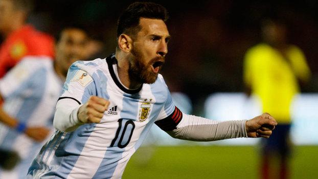 Lionel Messi foi o nome do jogo diante do Equador