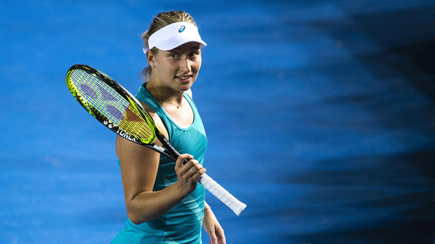 Maria Sharapova e Sabalenka na final do torneio de Tianjin