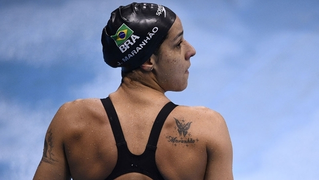 Joanna Maranhão após sua eliminatória nos 200 metros medley no Rio