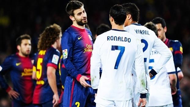 75bbe85a88 Pique Barcelona Cristiano Ronaldo Real Madrid Copa do Rei 26 02 2013