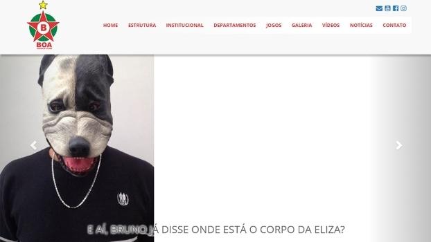 Página principal do site oficial do Boa Esporte neste domingo