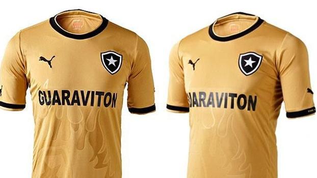 a428332fa4fa0 Botafogo lança camisa dourada e mede emoção da torcida em cabine - ESPN