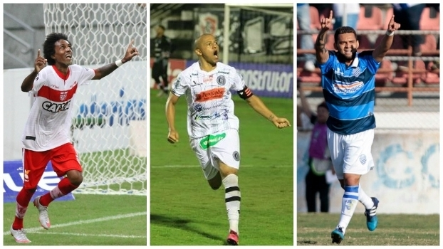 Trio de Alagoas: Roger Gaúcho, do CSA; Reinaldo, do Asa; e Bismarck, do CSA