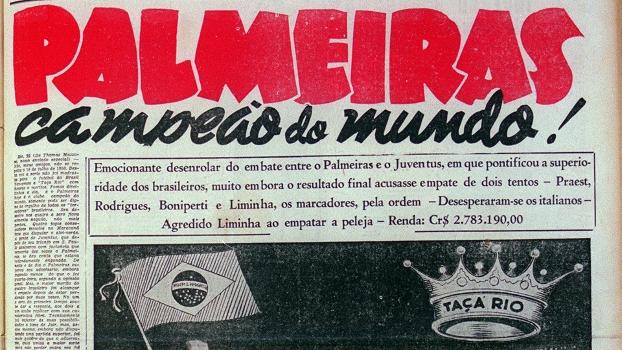 a521f716d8 Fifa exalta título do Palmeiras em 1951   O primeiro campeão global ...