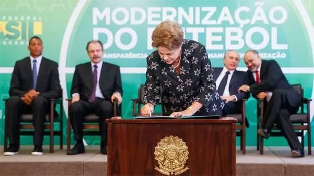 Dilma Rousseff, no lançamento da MP do Futebol