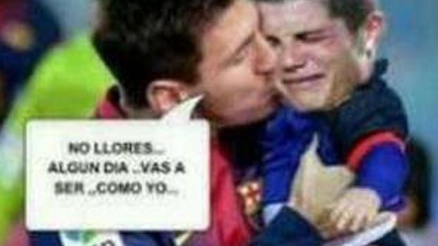 Montagem de Bale e Ronaldo como filhos de Messi e Neymar bomba na Espanha  ac10b187bd9c4