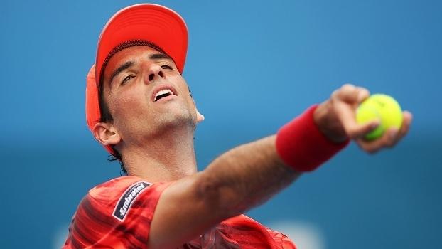 Thomaz Bellucci, na derrota para Alexandr Dolgopolov no ATP de Sydney, na Austrália