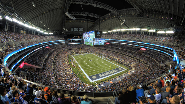 AT&T Stadium é a casa do Dallas Cowboys na NFL